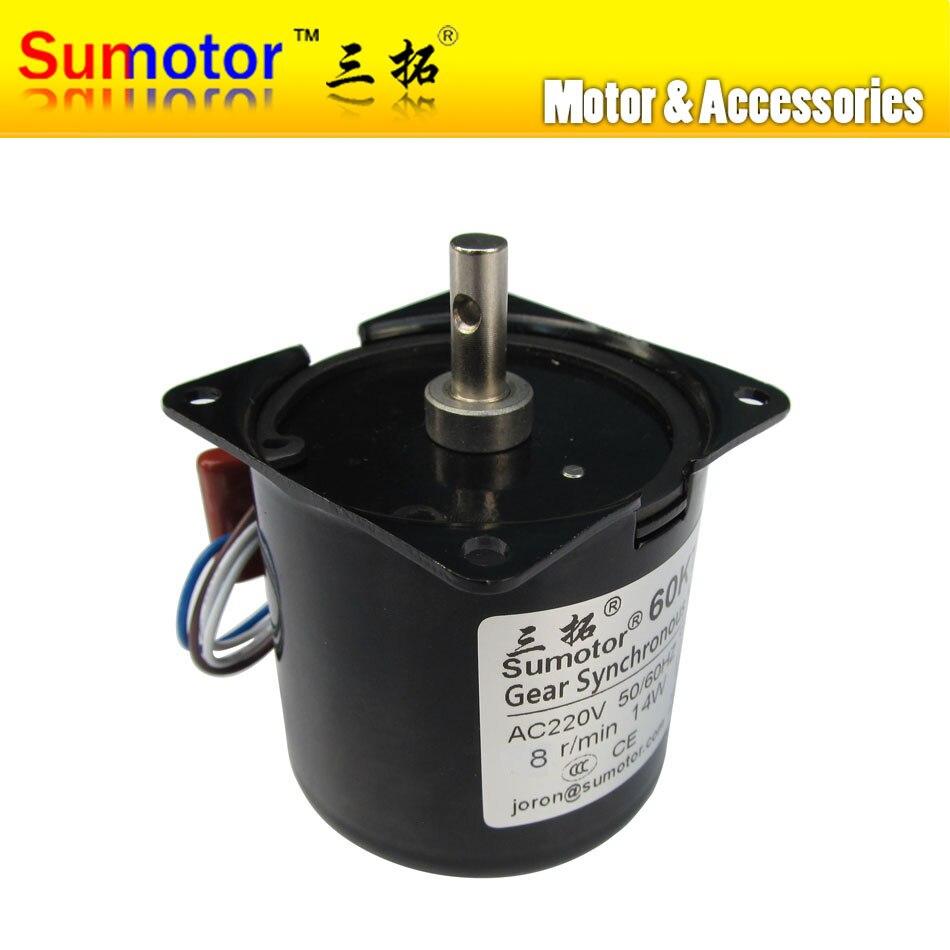 цена на 60KTYZ 8rpm 14W 220 - 240V 50HZ 60HZ AC synchronous gear motor, CW/CCW Sausage machine, Pure copper coils low speed AC MOTOR