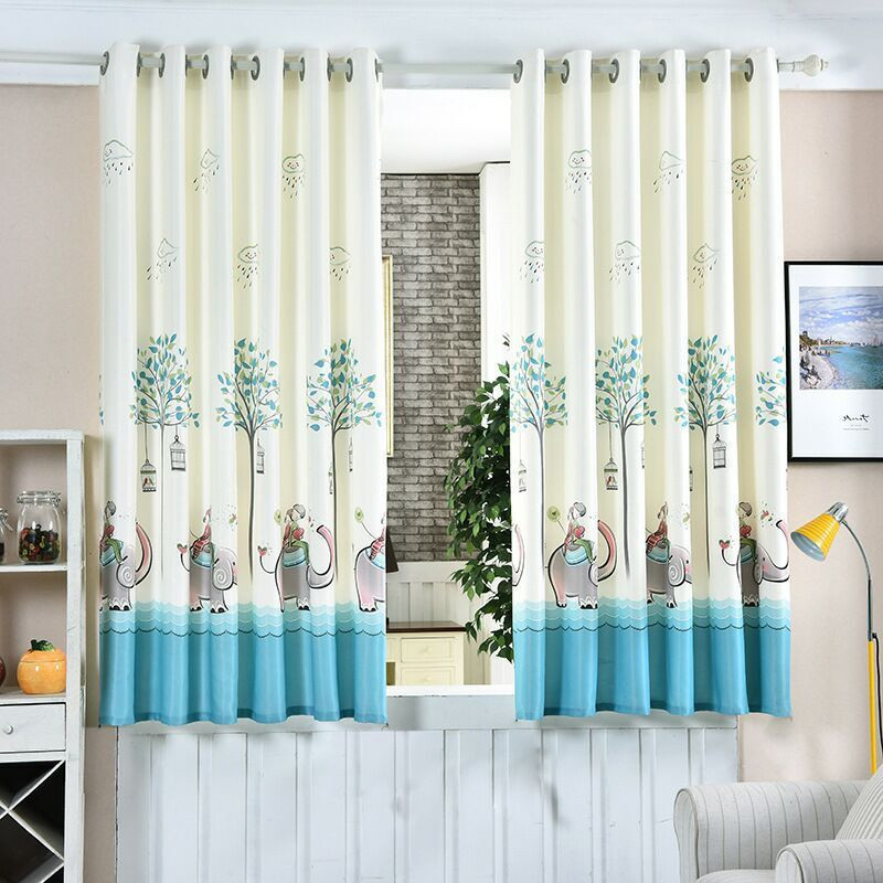 1PC 3 Color Short Curtain Half Shade Curtains For The Bedroom Fancy  Children Modern Curtains For