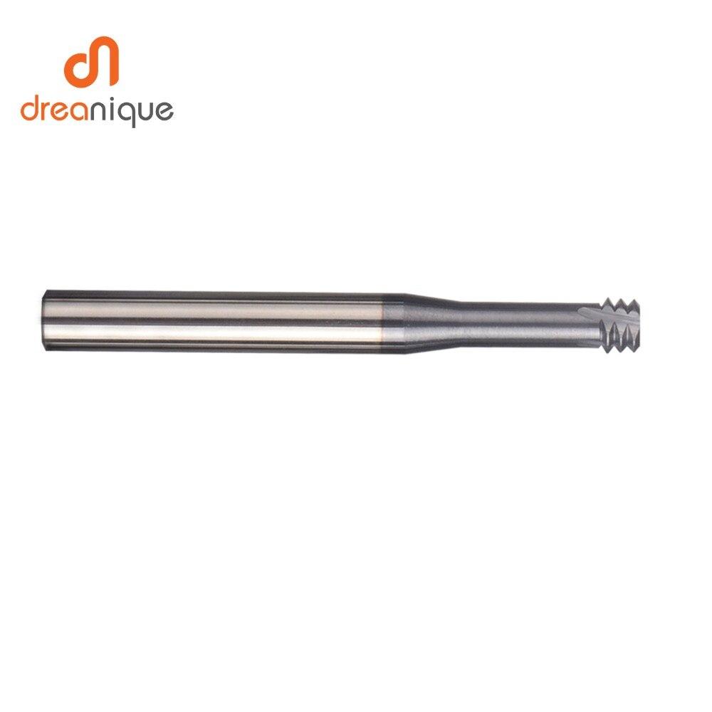 Купить с кэшбэком 1pc carbide alloy 3 tooth coated M1.0 - M12 thread end mills cnc threading milling cutter tool for ISO metric thread