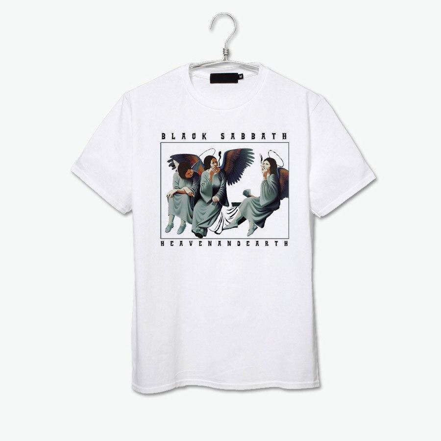 18f1429e18 O céu ea terra fumar ansioso anjos do vintage da moda black sabbath rock  band t shirt em Camisetas de Dos homens de Roupas no AliExpress.com