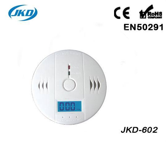 Home Security System Cordless Wireless Detector High Sensitive LCD Photoelectric Fire Alarm  Sensor CO Carbon Poisoning Gas