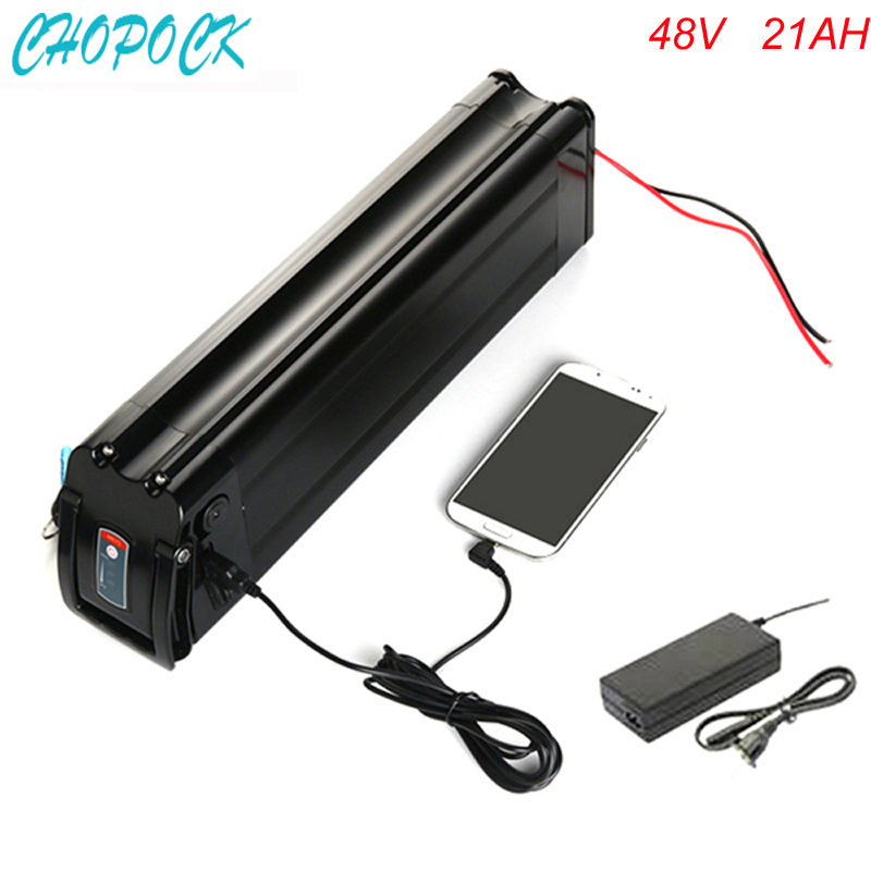 Bottom discharge electric bike battery 48v 21ah with charger and USB port for 48v 21ah lithium ion battery pack Use Sanyo cell universal cell phone lithium battery charger with usb power port for galaxy s4 i9500 more 220v