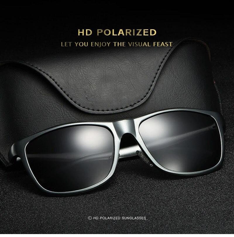 Bruno dunn Sunglasses Men Polarized 2020 Luxury Brand square metal frame male sun glasses oculos de sol masculino 2140 ray uv400 2