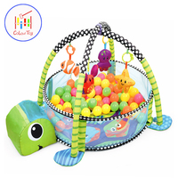 3in1 Baby Activity Gym and 30pcs Ball Pit Infant Grow with me Playpen Nursery Educational Play Mat Newborn Safety Fence Toy Tent