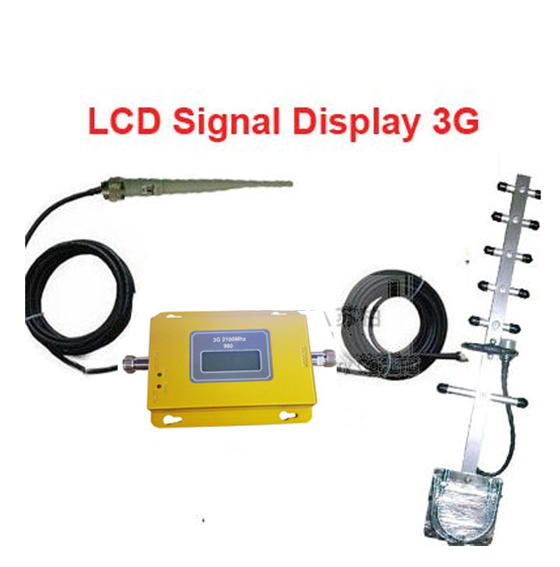 W/ Yagi Antenna+15M Cable LCD Display  Model 950 3G Booster Repeater,3G Kits,WCDMA Booster Repeater,2100Mhz Repeater Booster
