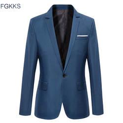 FGKKS качественные Брендовые мужские спортивные пиджаки 2019 осенние мужские смокинги для торжественных случаев пальто мужские деловые