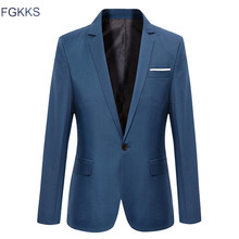 FGKKS Quality Brand Men Blazers 2019 Autumn Men's Tuxedos For Formal Occasions C