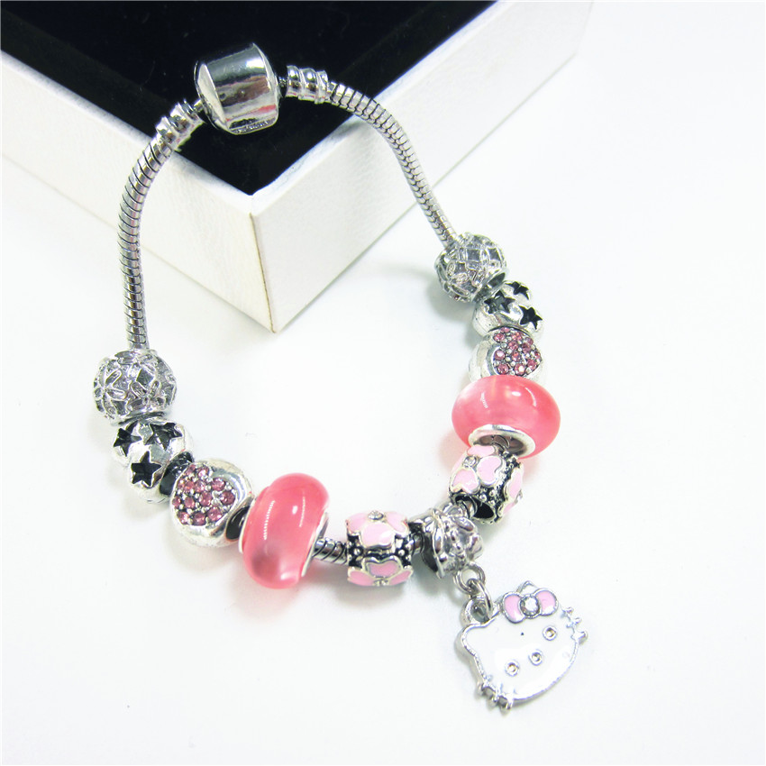 2018 Trend Sweet Kawaii Cute Bracelet Female Glass Beads Bracelet for Women Children Girl DIY Jewelry