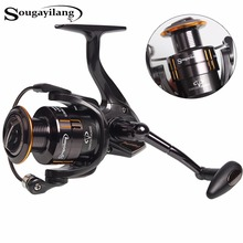 Sougayilang Technology Fishing Reel 12+1Ball Bearing 2000-5000 Series Spinning Reel Boat Rock Carp Fishing Reel Wheel De Pesca