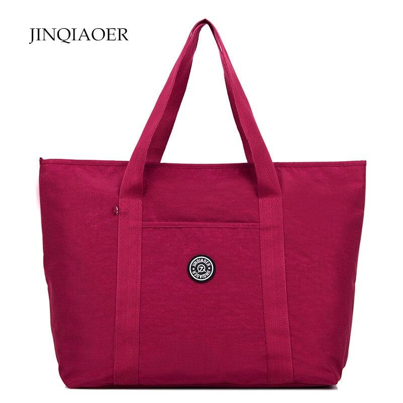 Jinqiaoer de viaje de gran capacidad de bolsos de diseño de alta calidad bolsas