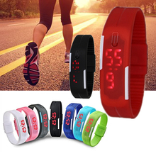 relojes hombre 2019 Sport Causal Army Led Digital Watch Soft Silicone Wristwatch