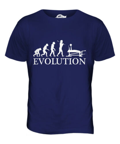 BENCH PRESS EVOLUTION OF MAN MENS T-SHIRT TEE TOP GIFT CLOTHING