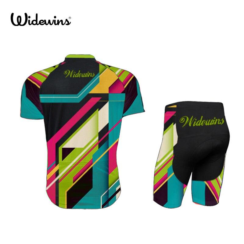 Widewins Wanita Musim Panas Bersepeda Jersey Lengan Pendek Jersey Bernapas  Siklus Memakai Kemeja Warna Pelangi 7181 di Cycling Jerseys dari Olahraga  ... f77ae45d9
