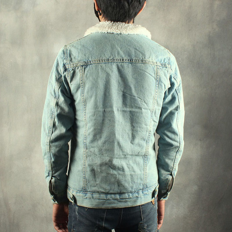 2019 herfst winter nieuwe heren bontvoering fleece jas mode slim fit - Herenkleding - Foto 3