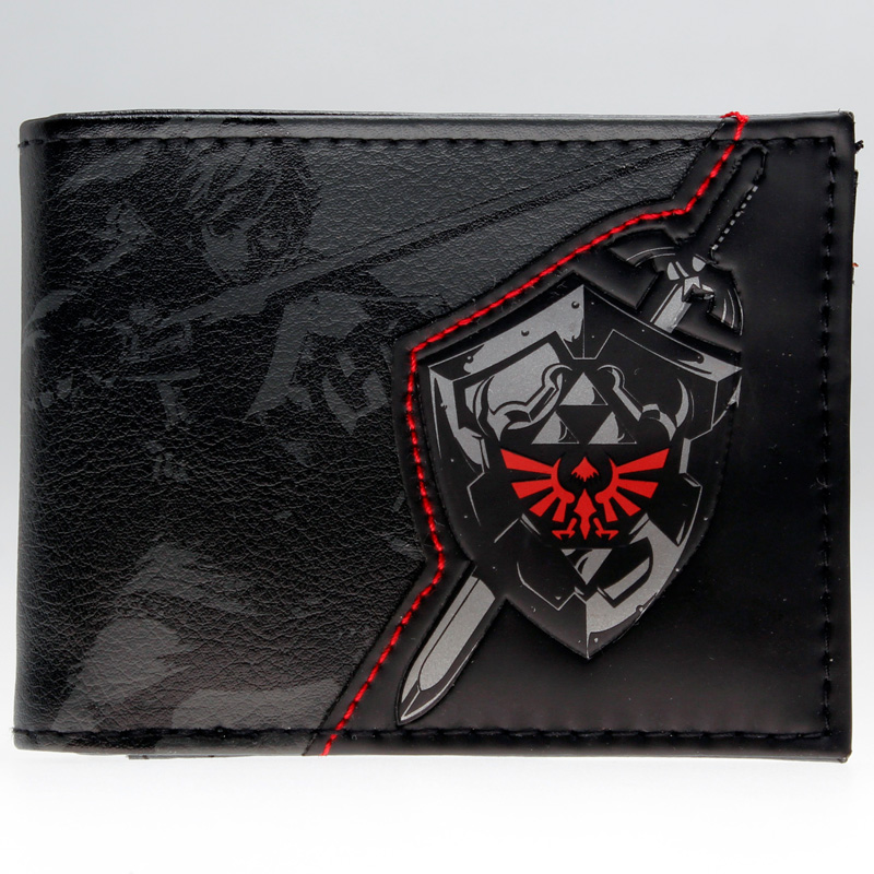 Zelda Wallet Bifold- Link Faux Leather DFT-1857 mens batman logo badge bifold wallet dft 1327