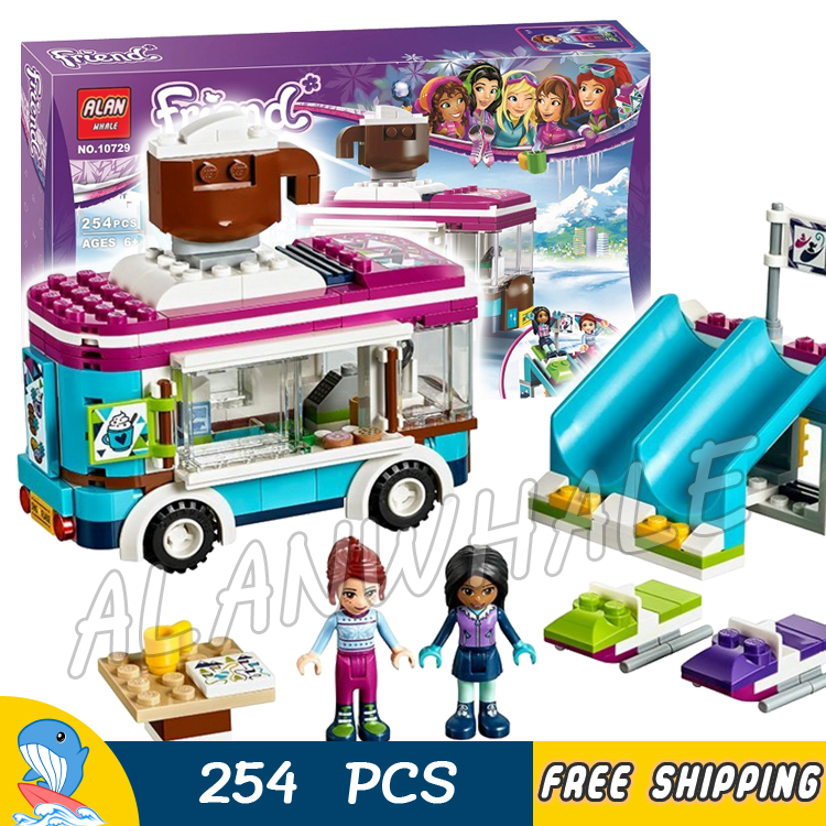 254pcs Friends Snow Resort Hot Chocolate Van Winter Outfits 10729 Model Building Blocks Children Toys Brick Compatible With lego bering 10729 642