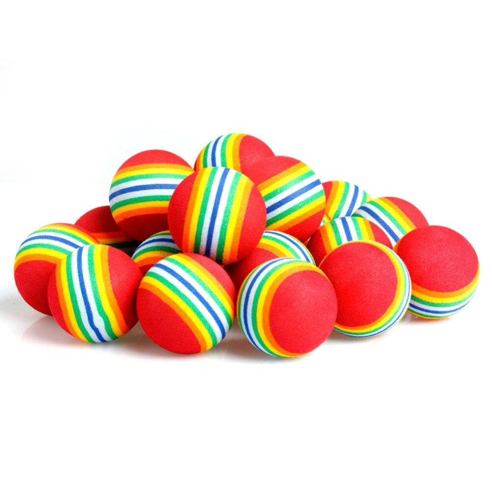 20 Pcs Rainbow Stripe FOAM Sponge Golf Balls Swing Practice Training Aids Sports hot sale