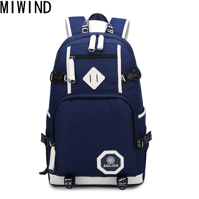 MIWIND High Quality Brand Design Men Backpack for School Bag Teenagers Boys Laptop Bag Backbag Man Schoolbag Rucksack TSM1165