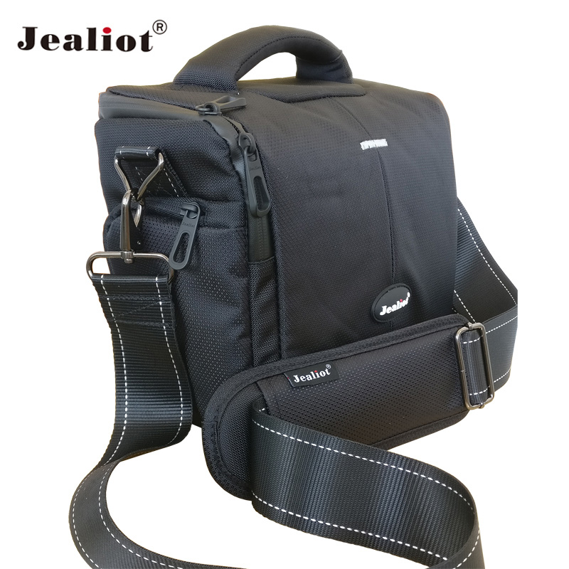 Jealiot Professional SLR Camera Bag Shoulder Bag waterproof digital Camera video foto photo bag lens Case for DSLR Canon 700D 5D 2018 jealiot waterproof camera bag dslr slr shoulder bag video photo bag lens case digital camera for canon nikon free shipping