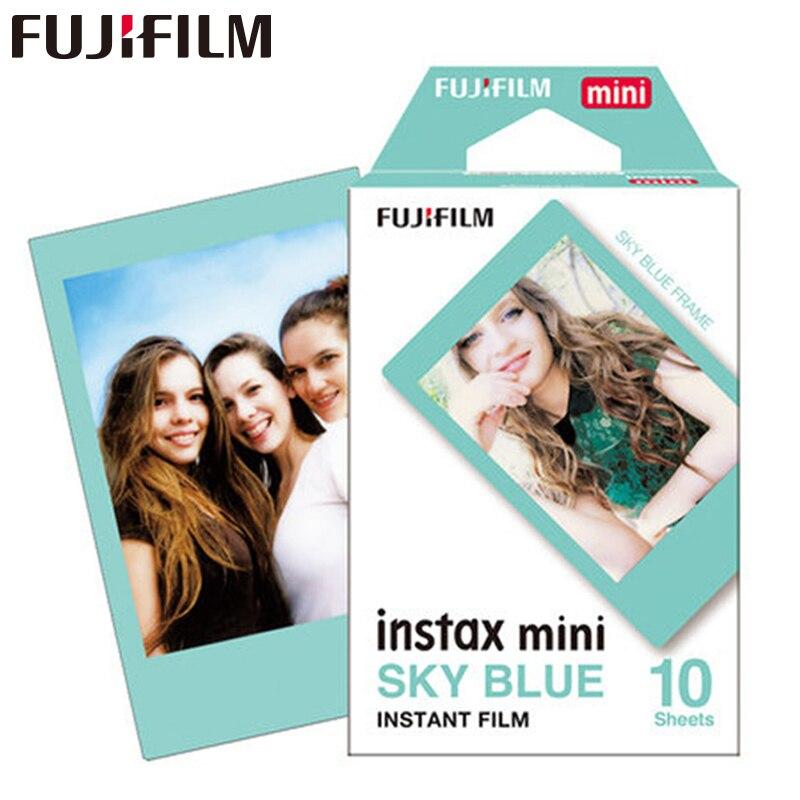 2017 Нови пристигания Fujifilm Instax Mini 8 Филм небесно синя рамка 10бр. За 8 50s 7s 90 25