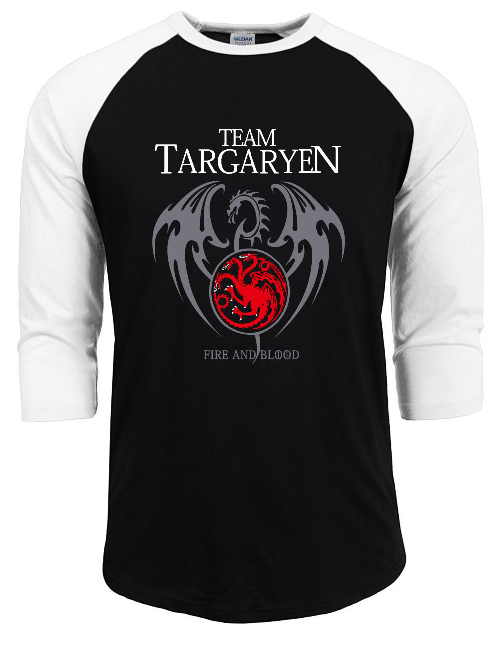targaryen homme streetwear Game of thrones   t     shirt   men 2019 summer raglan sleeve cotton casual   t  -  shirts   man hipster tops tee