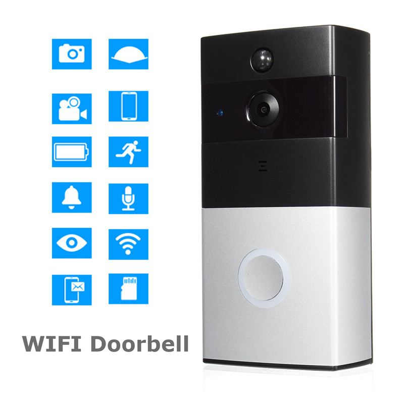 KINCO Smart Doorbell Million HD Pixels Wide-angle Lens 2.4G Wi-Fi PIR Motion Clearly Detection Day Night Visible Safety Home overall view fisheye lens 230 wide angle 16 million hd pixels lens for gopro hero 4 3 3 black silver edition accessoies gp393