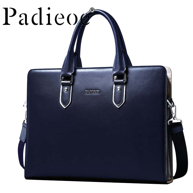 Bag Briefcase Messenger-Bag Genuine-Cow-Leather Luxury Male Business High-Quality New-Fashion