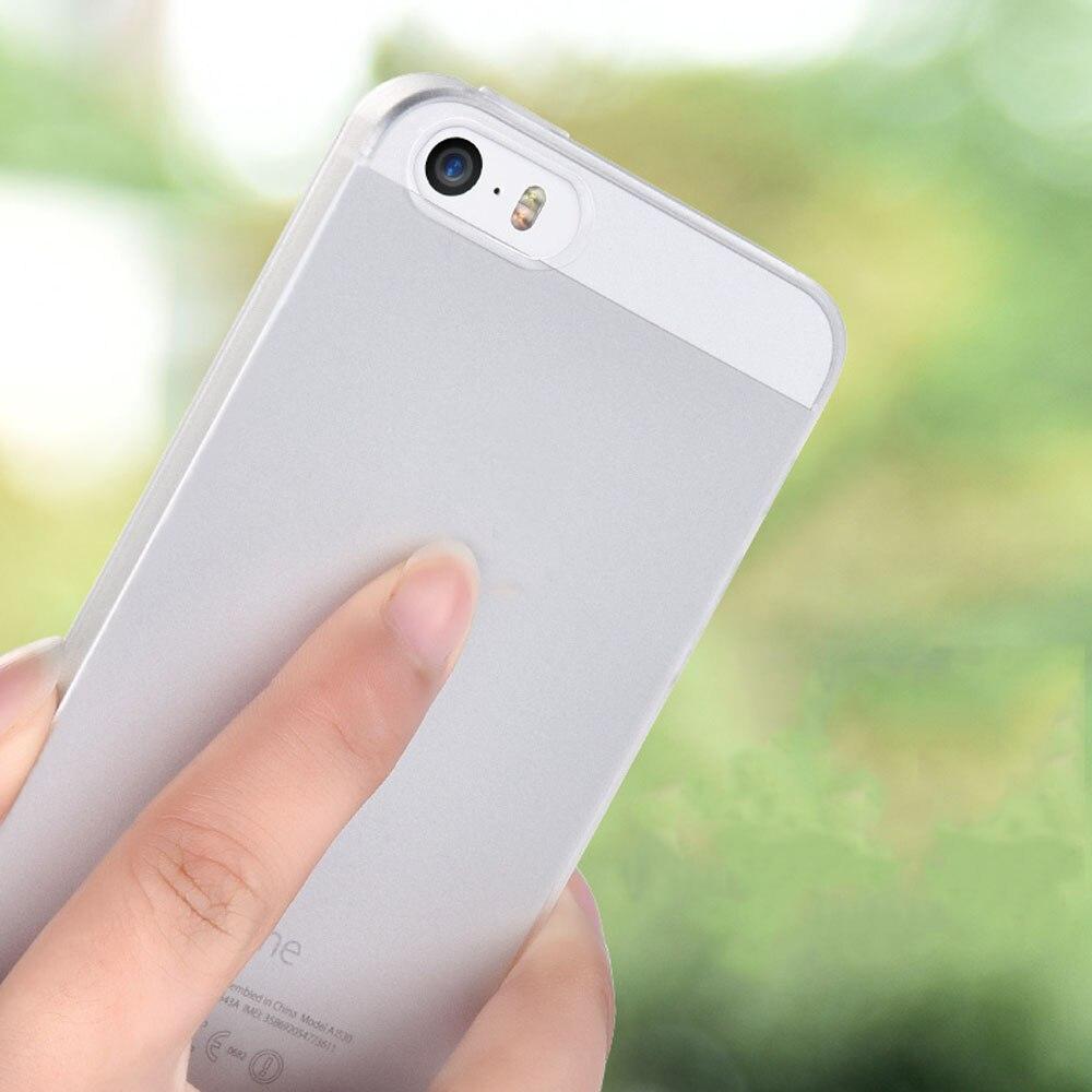 9fa34eeec0c Colorido transparente cubierta helada del caso para el iPhone 5 5S SE  cubierta protectora Ultra delgada protección Matte teléfono caso