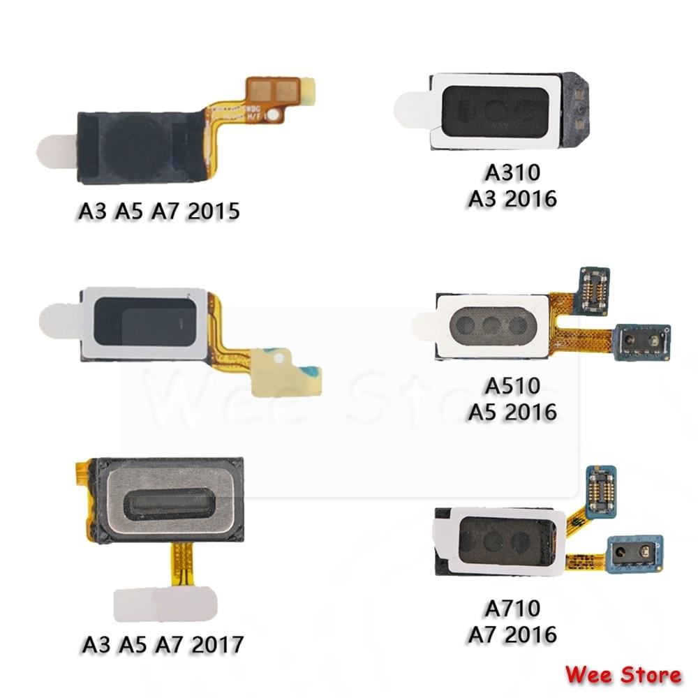 Original For Samsung Galaxy A3 A5 A7 2015 2016 2017 2018 A530 A730 Phone Sound Earphone Speaker Earpiece Flex Cable
