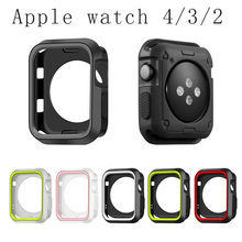 Funda protectora de TPU suave para Apple Watch, carcasa de 44mm, 40mm, 38mm y 42mm, parachoques perfecto para Apple iwatch Series 4/3/2/1