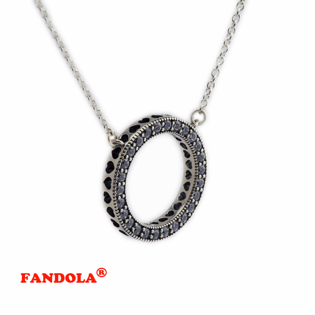 DIY Fits European Jewlery Silver Pendants and Necklaces for Women with Love Heart 925 Sterling Silver Jewelry Charms FLN024
