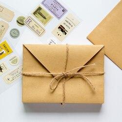 محفظة مغلف 50 قطعة كرافت ظرف ورقي هدية زفاف مغلفات 150*110 مللي متر مدرسة ومكتب مورد قرطاسية