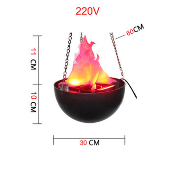 Halloween Party Supplies False Flame LED Light Decoration 220V Simulation Fire Electronic Lights Props Christmas Home Decor