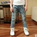 Alta qualidade 2016 primavera e no outono de moda de Nova crianças meninos jeans Casual crianças calças do bebê