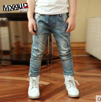 High quality 2016 spring and autumn New fashion kids baby boys Casual jeans children pants