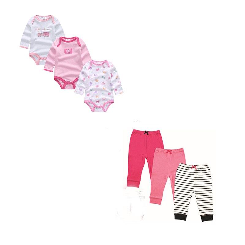 Near Cutest 6pcs/set Baby Set Baby Boy Girl Clothes Newborn Toddler Infant Cotton Long S ...
