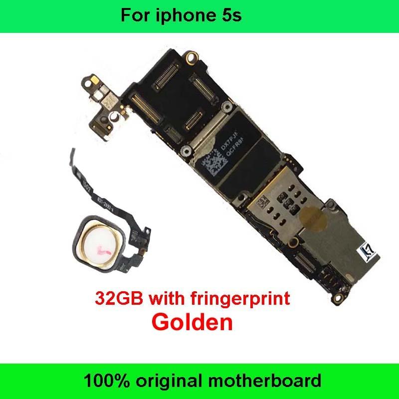 imágenes para Para apple iphone 5s motherboard con huella digital 100% buen trabajo 32 gb rom original mainboard para el iphone construido en sistema ios