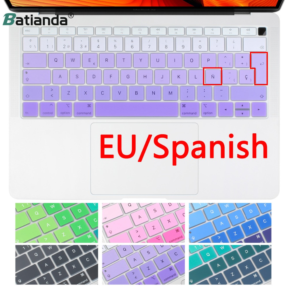Spanish Keyboard Cover Stickers Protector for 2018 New MacBook Air 13 Inch...