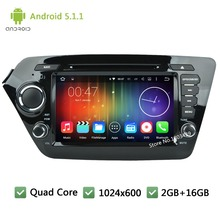 Quad Core 16GB Android 5.1.1 2Din 8INCH 1024*600 WIFI DAB+ Car DVD Stereo Player Radio Audio Screen PC For KIA K2 RIO 2010-2014