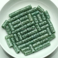 10pcs Chinese 100% A Grade Natural new/Jadeite Carved Bamboo Loose Beads