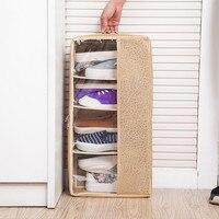 ROSEHOME Folding Shoes Organizer Box Non woven Shoe Holder Case Khaki Clothes Toys Space Saver Home Storage & Organization