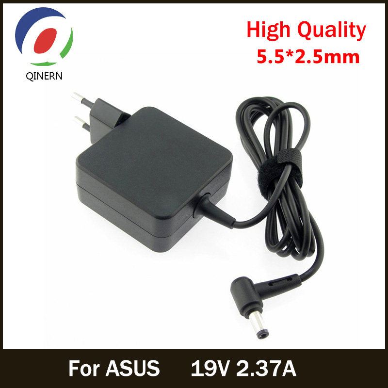 EU 19V 2.37A 45W 5.5*2.5mm AC Laptop Charger Power Adapter For ASUS A52F X450 X450L X550V X501LA X550C X551CA X555 ADP-45BW