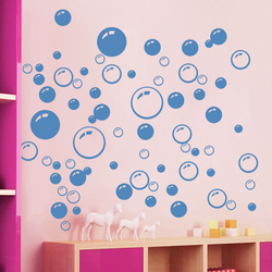 creative Bubbles Wall Art Bathroom Window Shower Tile Decoration Decal Kid Car Sticker Waterproof and Removable wall sticker 701