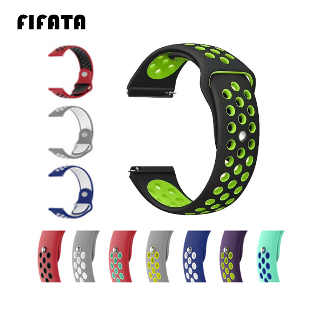 FIFATA 20 22mm Silicone Bracelet For Xiaomi Huami Amazfit Bip Smart Watch Sport Lightweight Watch Strap For Amazfit Bip Bit Band