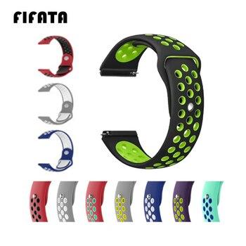 FIFATA 20 22mm Silicone Bracelet for Xiaomi Huami Amazfit Bip Smart Watch Sport lightweight Watch Strap for Amazfit Bip bit Band watch stap for xiaomi huami amazfit bip bit amazfit bit watchband bracelet for xiaomi huami amazfit bip youth rhinestone band