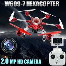 HUAJUN W609 7 Pathfinder 2 5.8G FPV 6 Axis Gyro 4.5CH 2.4G RC Hexacopter Drone with 2.0MP HD Camera Remote Control Helicopter
