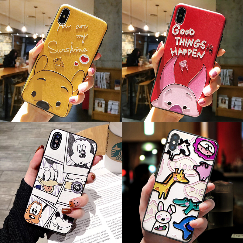 3D Emboss Print TPU Coque For Huawei Mate 20 10 P20 P30 P8 P9 P10 Lite 2017 Mini Pro Nova 3i 3 Y9 2018 P Smart Plus 2019 Case