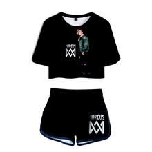 KPOP Women Two Piece Set Marcus & Martinus Tracksuit Women Top and Pants Summer Outfits Set Plus Size Marcus Martinus Suit(China)