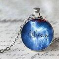 Siempre pérez Patronus Harry Potter símbolo siempre cristal de la foto colgante de plata Patronus collar cristal de la foto collar Cabochon