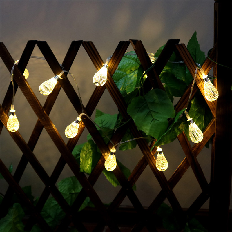 DELICORE 1.65M AA Battery Operation Led String LED Metal Sliver Drip String Lights For Christmas Home Decoration S083